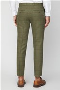 Green Heritage Check Tailored Fit Suit Trousers