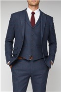 Blue Heritage Check Tailored Fit Suit Trouser
