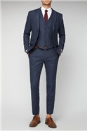 Blue Heritage Check Tailored Fit Suit