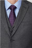 Grey Texture Tailored Fit Suit