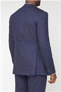Navy Linen Tailored Fit Suit