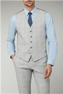 Light Grey & Blue Checked Suit