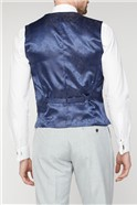 Navy Mini Gingham Waistcoat