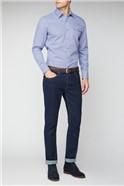 Blue Maze Check Shirt
