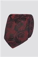 Stvdio Wine Digital Rose Tie