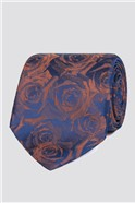 Stvdio by  Orange and Blue Floral Tie