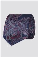 Stvdio Blue Large Intricate Paisley Tie