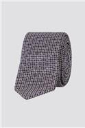 Brit Purple Deco Grid Tie