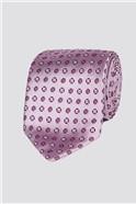 London Light Pink Diamond Geo Tie