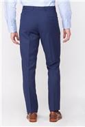Stvdio Blue Textured Peformance Tailored Fit Suit Trouser