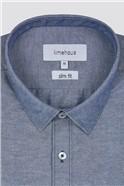 Slim Fit Blue Chambray Shirt