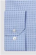 Brit Light Blue Dashes Print Slim Fit Shirt