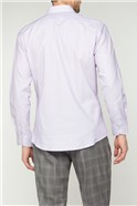 Bespoke Lilac Square Dobby Tailored Fit Shirt