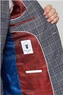 Enzo Blue Grey Tweed Check Suit Jacket
