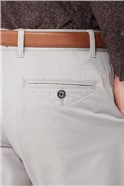 Grey Stretch Chino Trousers