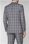 Grey Pink Check Regular Fit Suit