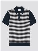 Jacquard Check Polo Shirt