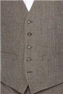 Taupe Herringbone Puppytooth Waistcoat