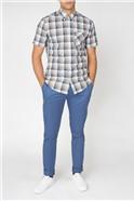 Large Gradient Check Shirt
