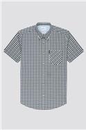 Mini Gradient Marine Check Shirt