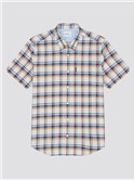 Irregular Sky Blue Check Shirt