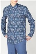 Large Foulard Print Shirt