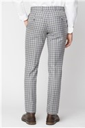 Grey with Navy Check Trousers