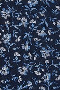 Navy Small Floral Tie