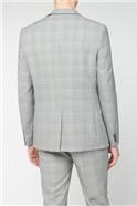 Grey Pink POW Check Slim Fit Trouser