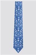 Navy Bird Floral Tie