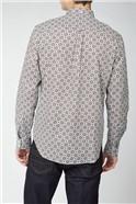 Long Sleeve Foulard Print Shirt