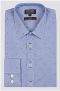 Stvdio Spot Dobby Check Formal Shirt