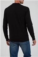 Black Long Sleeve Polo Jumper