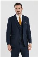 Deep Blue Birdseye Regular Fit Suit Trousers