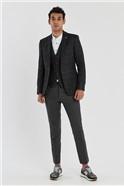 Charcoal Check Slim Fit Waistcoat