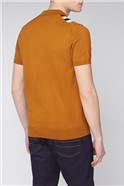 Yellow Multi Colour Block Knitted Polo Shirt