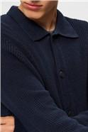 Darrel Button Cardigan in Navy