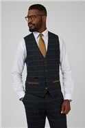 Eton Navy Check Tailored Fit Suit