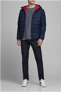 Navy Hooded Puffer Jacket