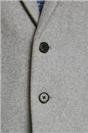 Grey Wool Blend Overcoat