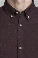 Wine Button Down Shirt