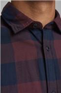 Burgundy Checked Shirt