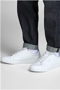 White Faux Leather Trent Trainer