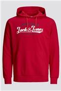 JACK & JONES Red Logo Hoodie