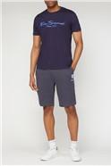 Navy Target Logo Jersey Shorts