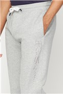 Embroidered Grey Marl Joggers