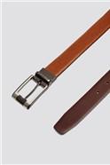 Tan Brown Reversible Belt