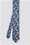 Navy Silk Floral Tie