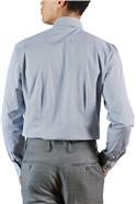 White Navy Geo Print Shirt
