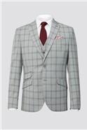 Grey Check Waistcoat